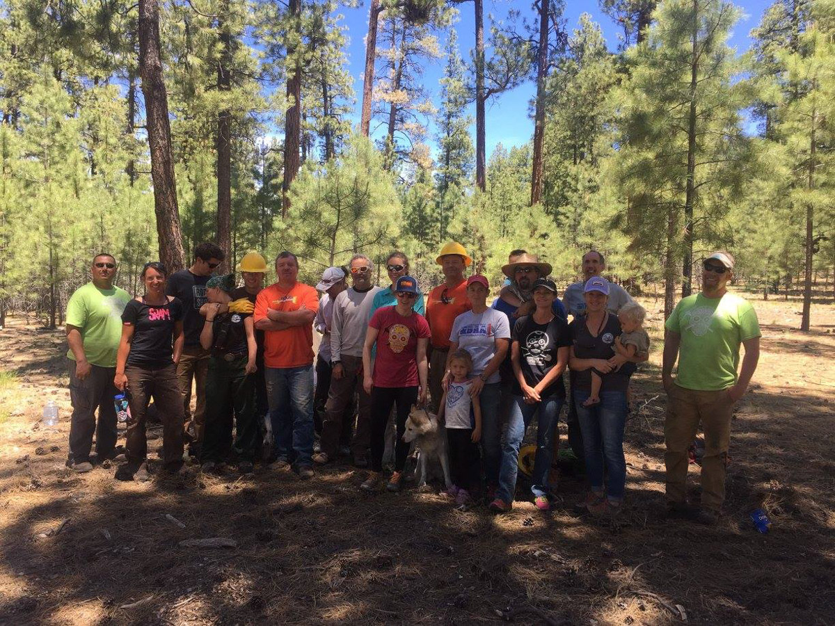 Volunteers at the Rainbow Rim workday