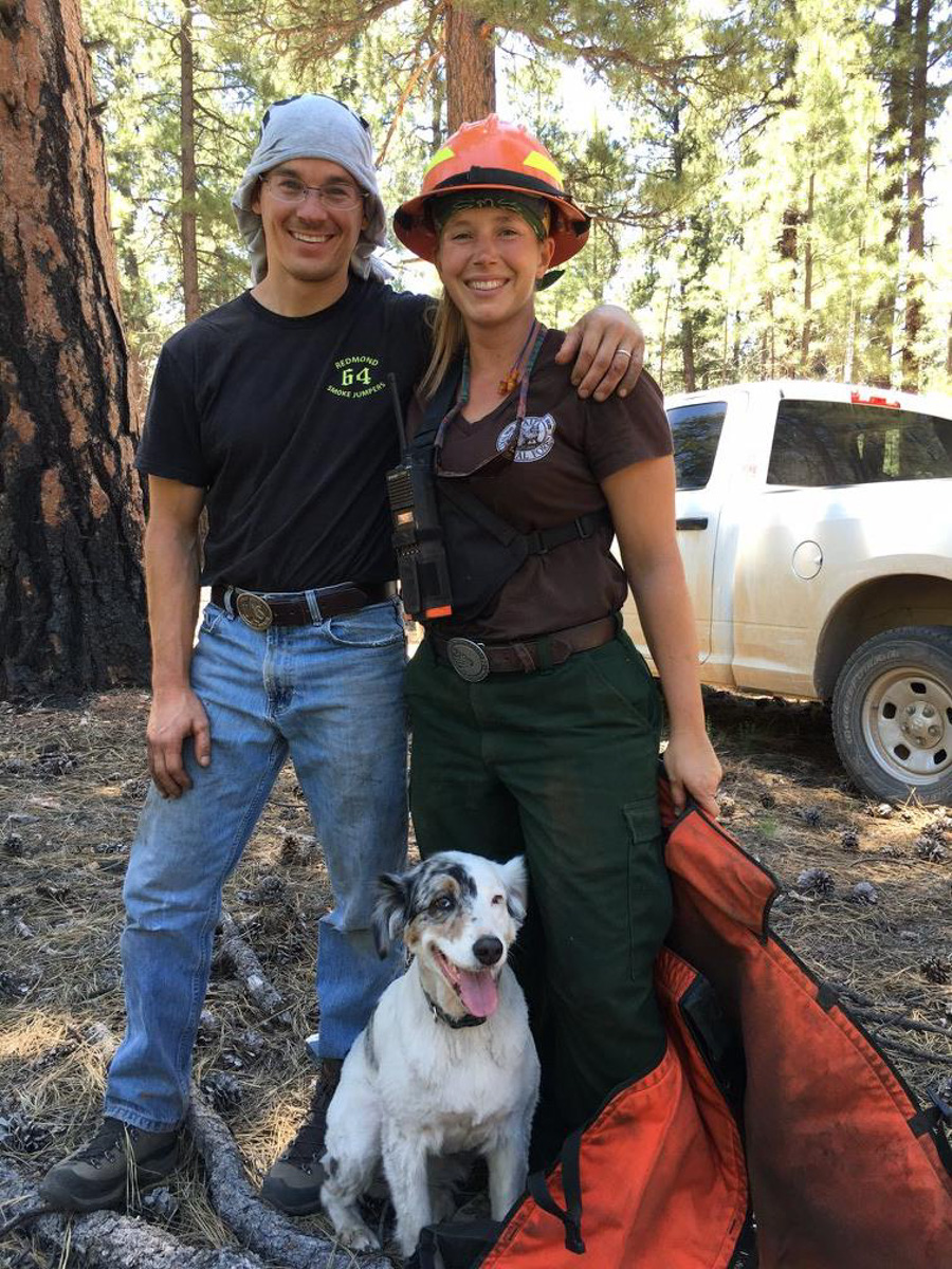 Melissa Spandl-Robinson and Denise Kusnir, U.S. Forest Service recreation professionals on the Kaibab Ranger District