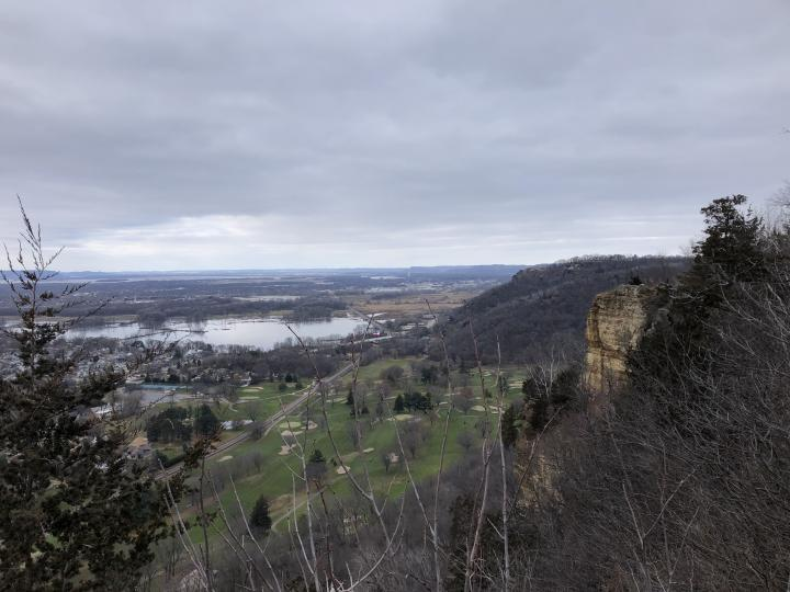A view from an existing trail on the bluff near Grandma's Gateway. Photo credit: First Impressions