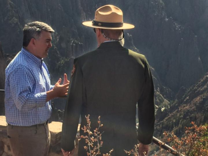 Senator Garnder at Black Canyon of the Gunnison National Park